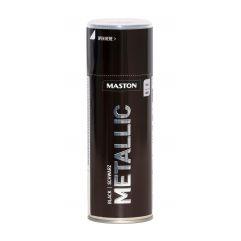 MASTON SPRAY METALLIC Black 400ml