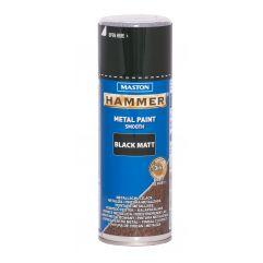 MASTON SPRAY Hammer smooth Black matt 400ml