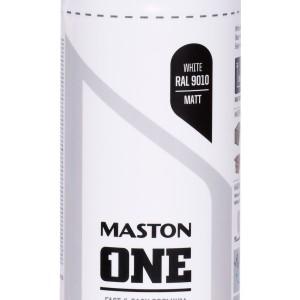 MASTON SPRAY ONE RAL 9010 Matt White 400ml