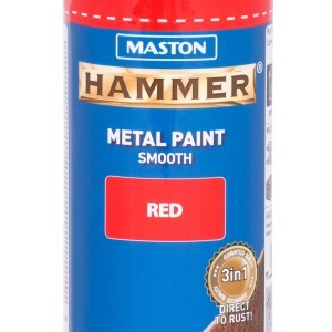 MASTON SPRAY Hammer smooth Red 400ml